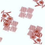 P-012-B 深紅花草集/色板樣式不變,顏色可依需求調整變更。